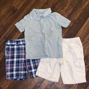 Boys shorts & polo bundle